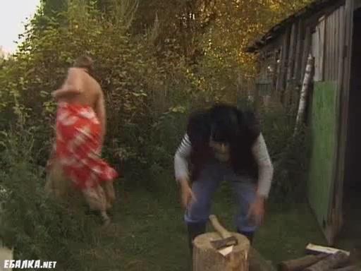 Русское деревенское ебля
