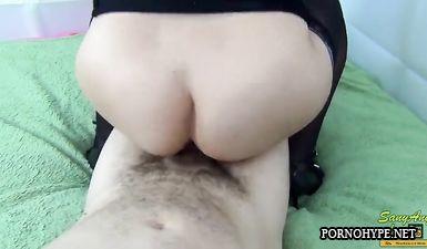 Домашний фетиш секс с подругой Валей в чулках и ебля в разных позах