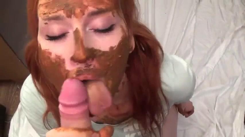 Порно на лицо рыжей