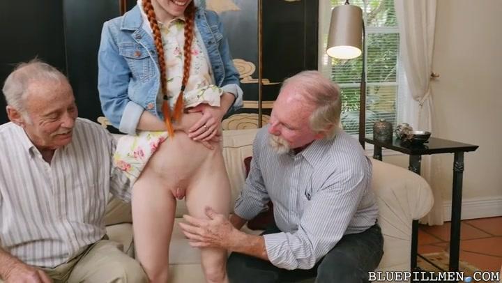 Порно рыженькой со стариком