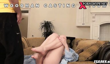 Вудман трахает миниатюрную русскую девочку во все дыры на порно кастинге